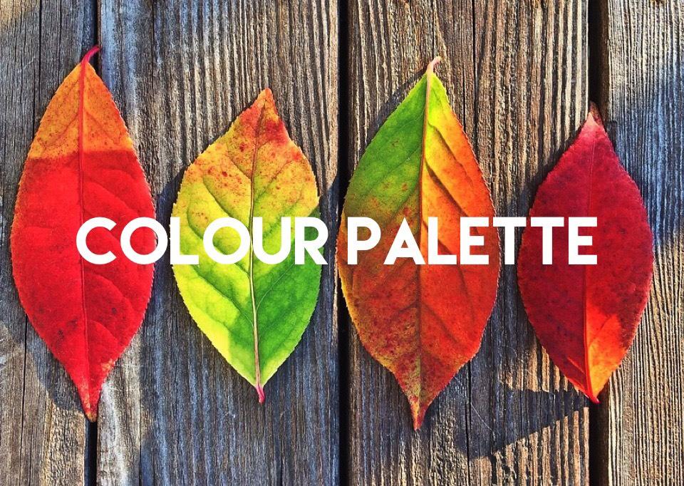 autumnal colour palette